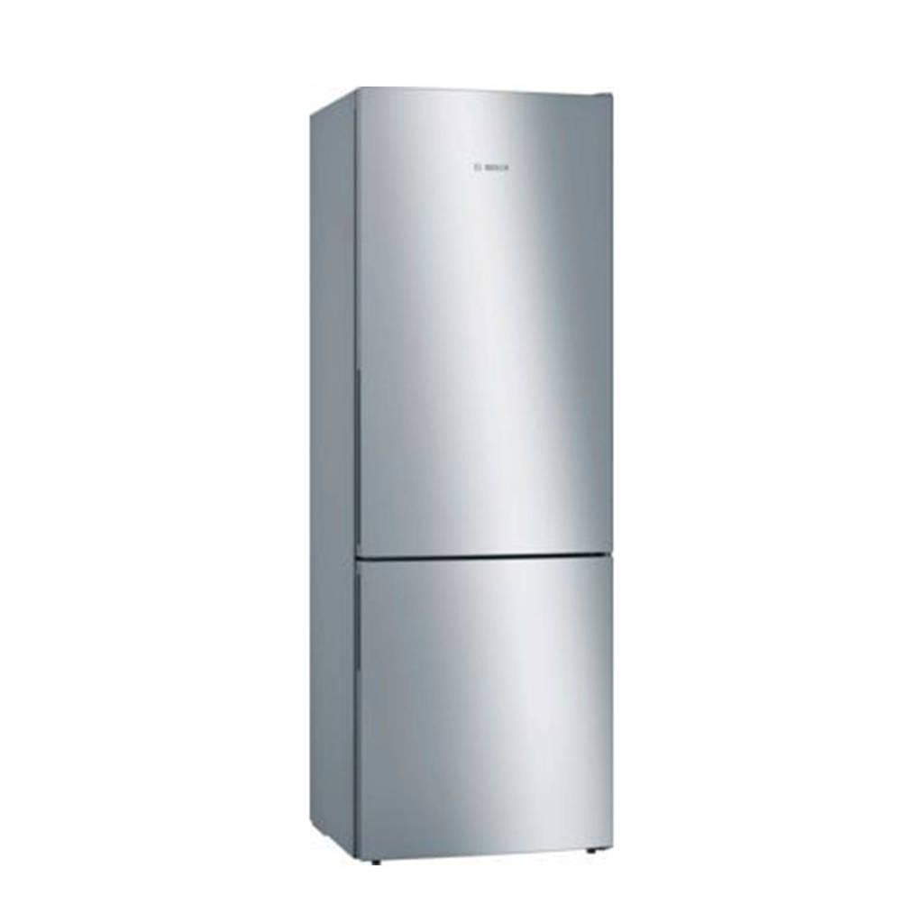 Bosch KGE49AICA koel/vries combinatie, Roestvrijstaal/grijs