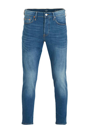 tapered fit jeans blauw