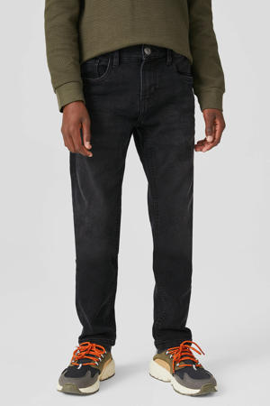 thermo skinny fit jog denim zwart