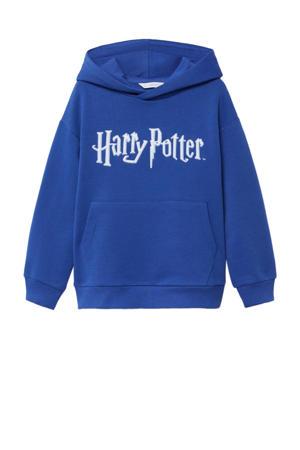 Harry Potter hoodie met tekst hardblauw