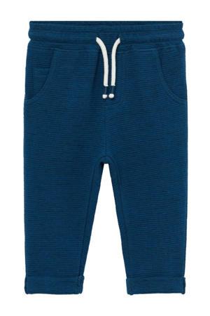 gemêleerde joggingbroek blauw/grijs/wit