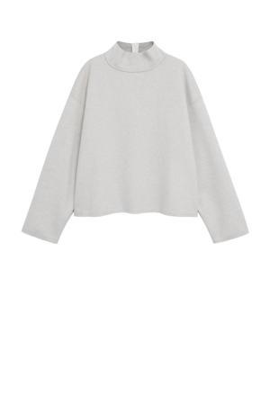 gemêleerde sweater lichtgrijs