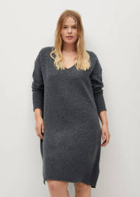 Violeta by Mango gemêleerde jurk grijs, Grijs