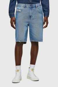 Diesel regular fit jeans short D-strukt 01 mid blue, 01 Mid Blue