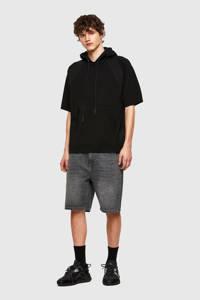 Diesel regular fit jeans short D-STRUKT zwart, Zwart