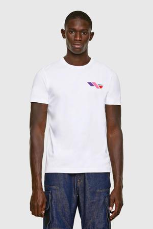 T-shirt Diegos met logo wit