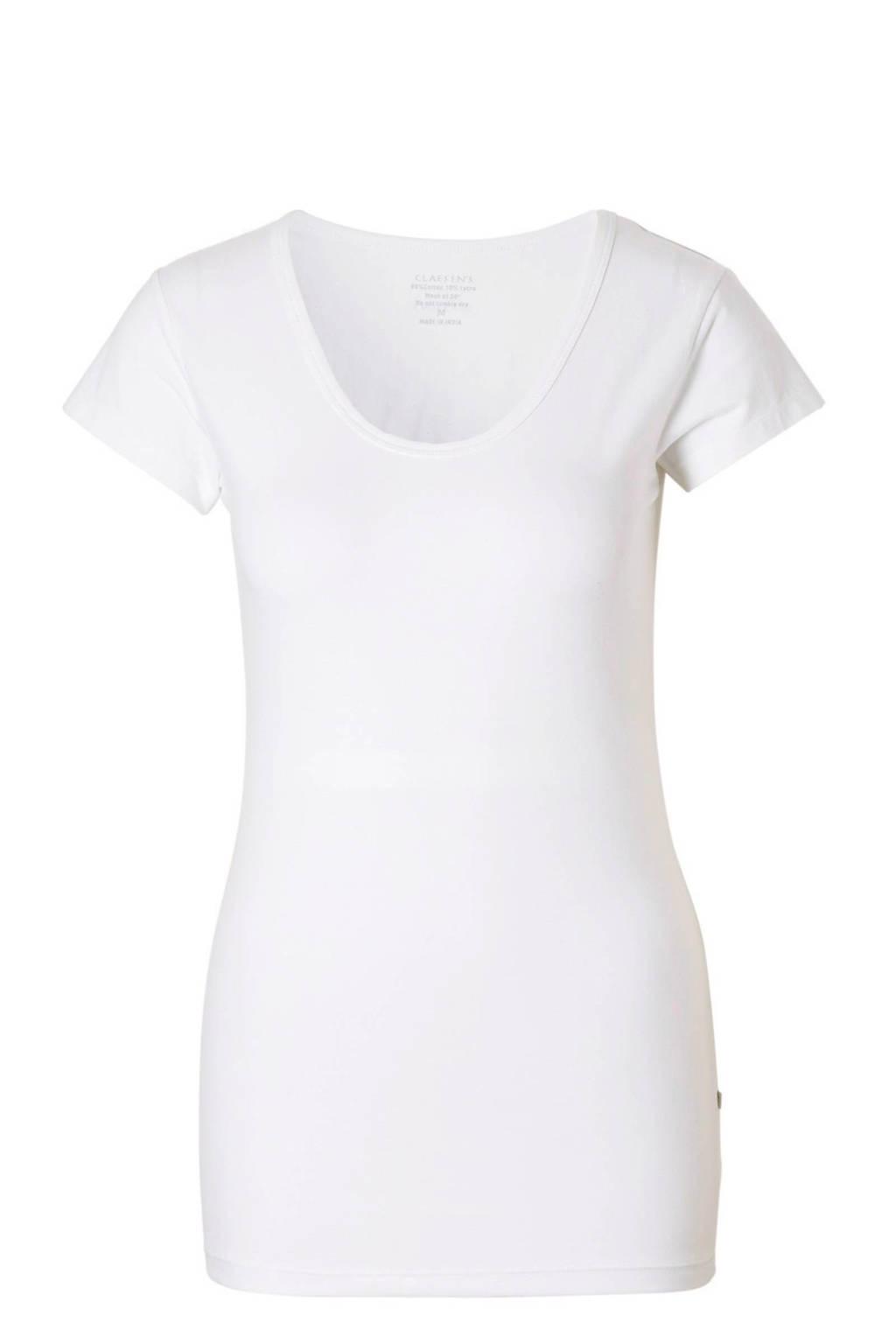 Claesen's ondershirt met ronde hals wit, Wit