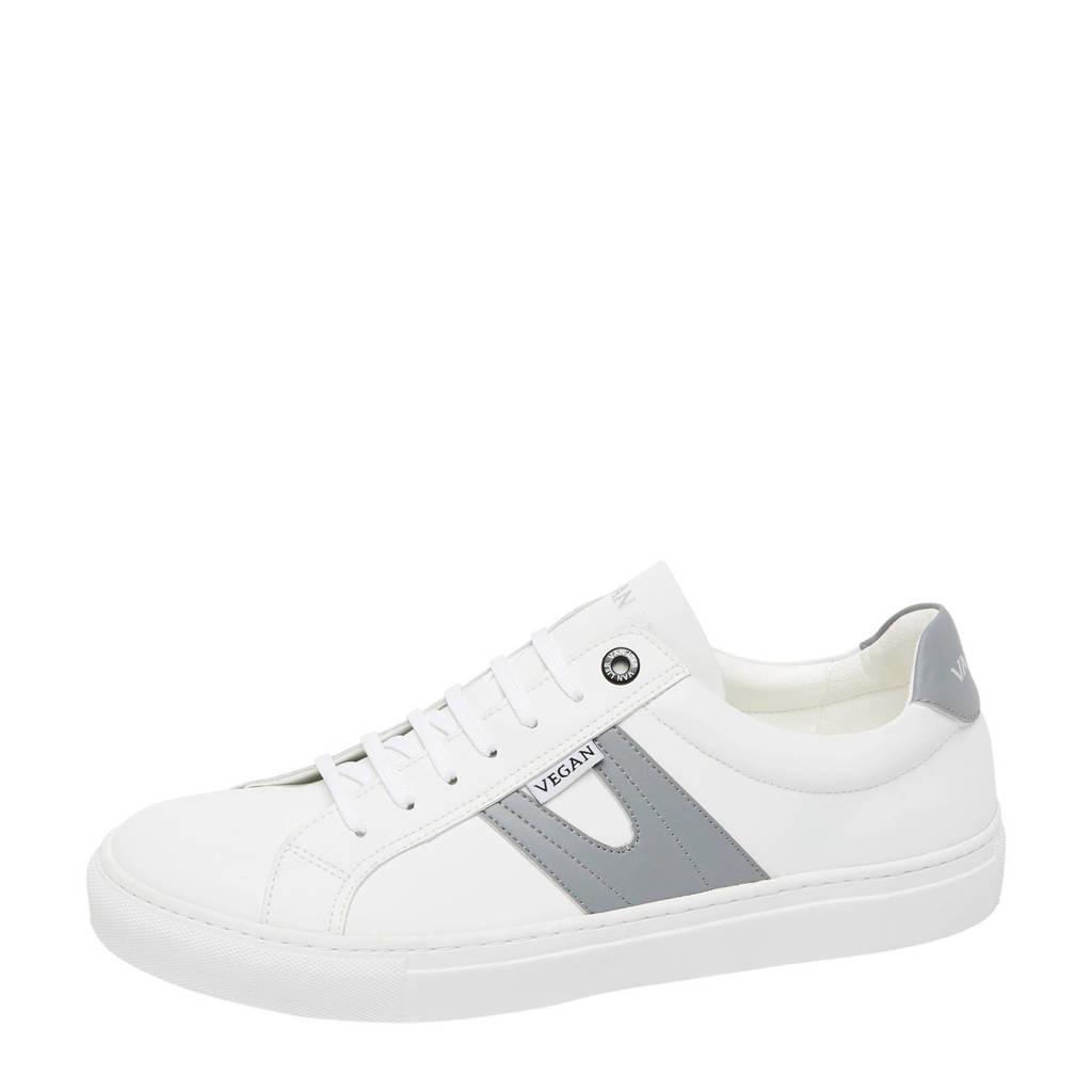 Van Lier Novara  vegan sneakers wit/grijs, Wit/grijs