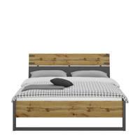 Beter Bed bed Edinburgh (160x200 cm), Donkergrijs/eiken