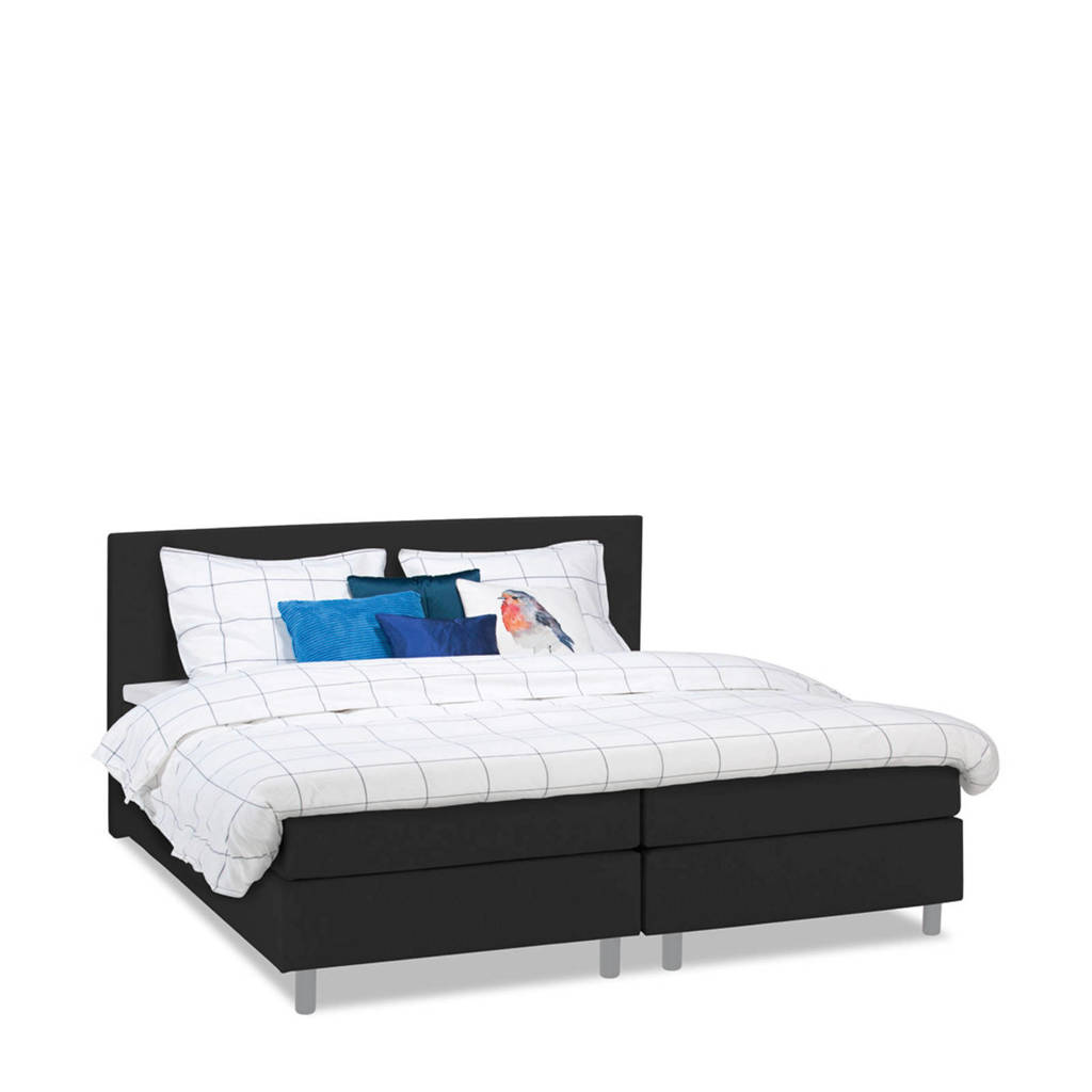 Beter Bed complete boxspring Watford (140x200 cm), Antraciet