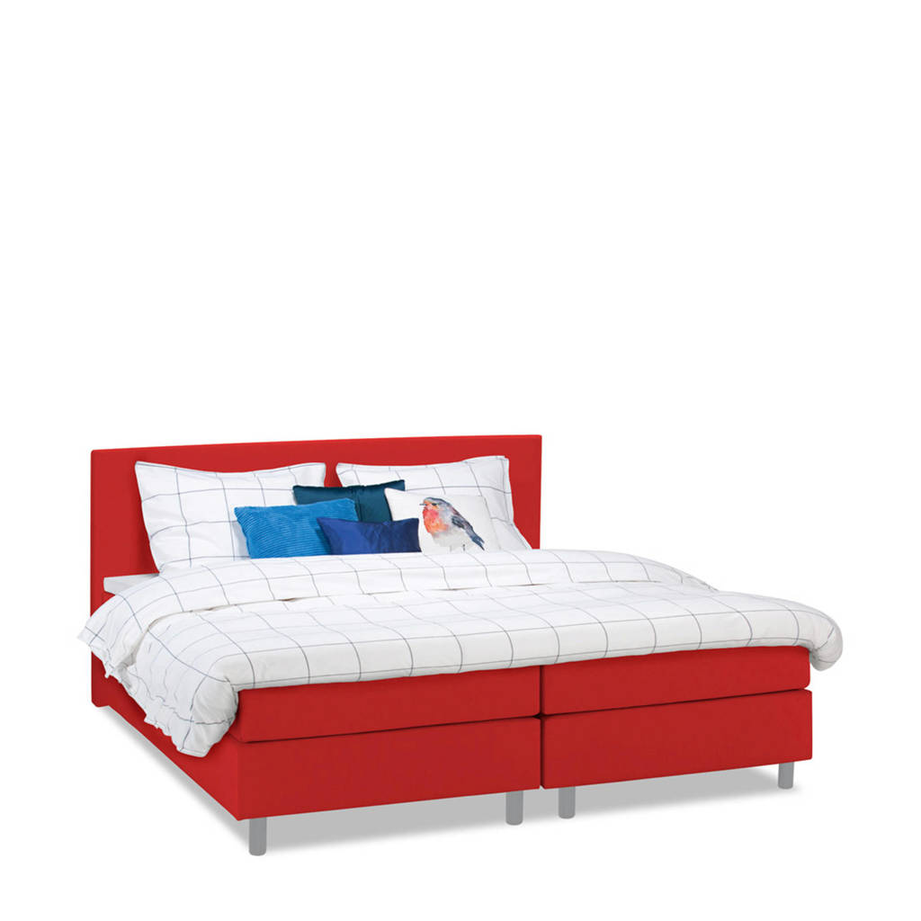 Beter Bed complete boxspring Watford (140x200 cm), Rood