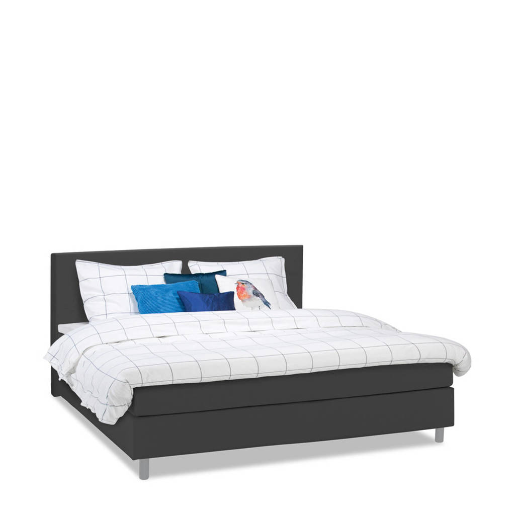Beter Bed complete boxspring Watford (180x200 cm), Antraciet