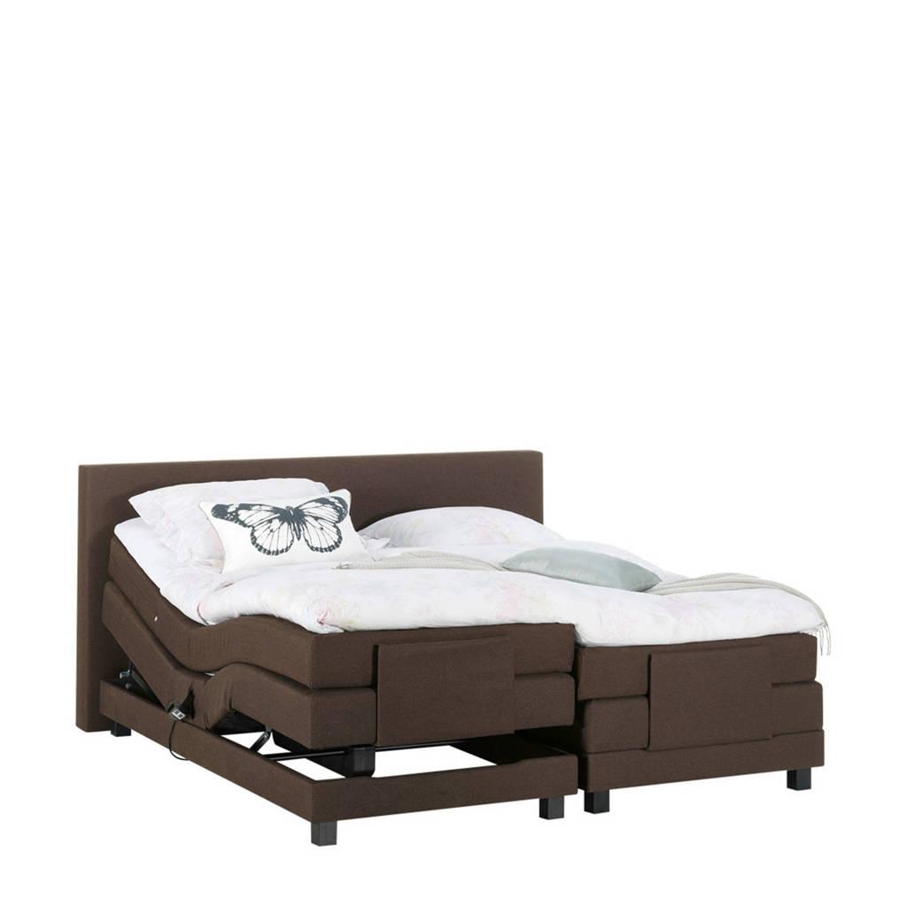 Beter Bed complete elektrische boxspring Brighton (140x210 cm), Bruin
