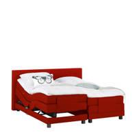 Beter Bed complete elektrische boxspring Brighton (140x210 cm), Rood