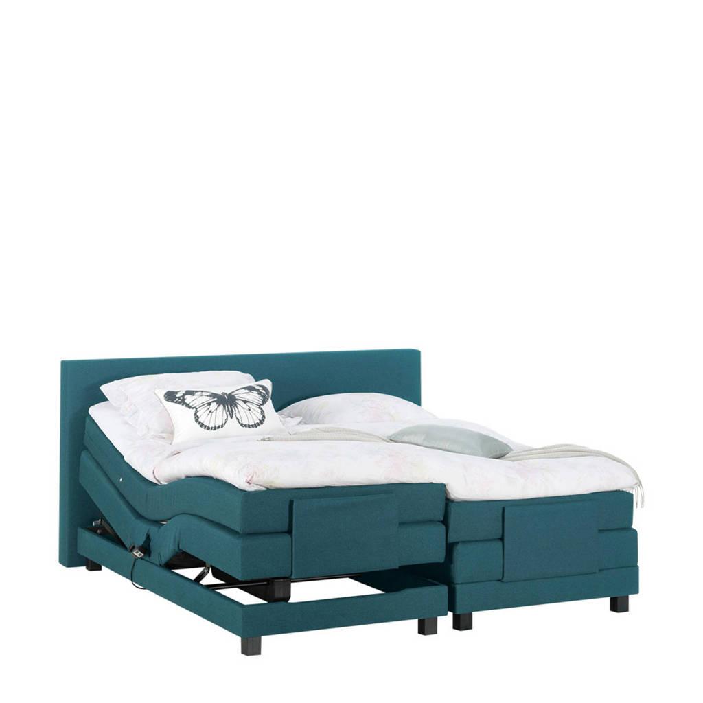 Beter Bed complete elektrische boxspring Brighton (140x210 cm), Turquoise