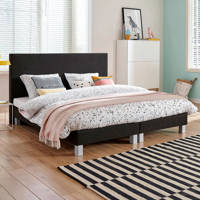 Beter Bed complete boxspring Leeds (180x210 cm), Onyx
