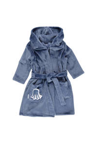 Little Dutch   fleece badjas blauw, Blauw