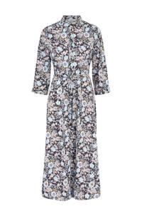 PIECES maxi blousejurk met all over print lichtblauw, Lichtblauw
