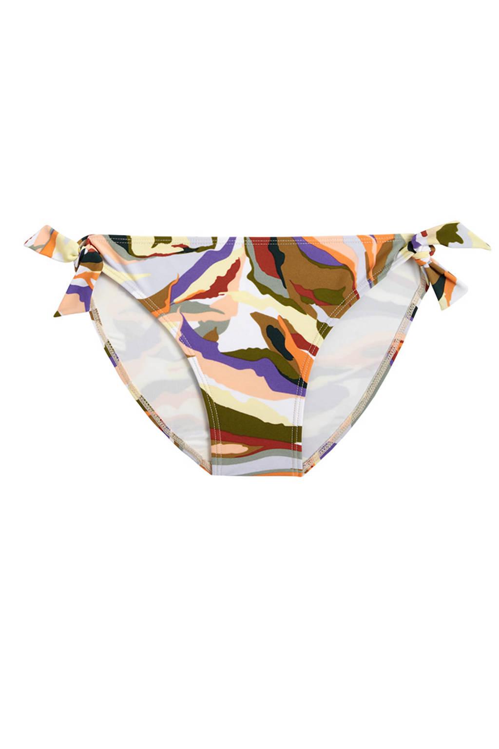 Beachlife strik bikinibroekje met all over print groen/geel/rood, Groen/geel/rood