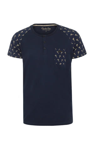 pyjamatop donkerblauw