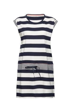 gestreept nachthemd donkerblauw/wit