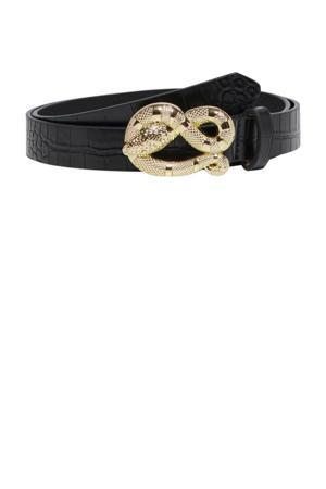 riem met slangengesp zwart
