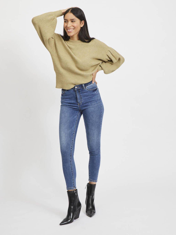 OBJECT high waist skinny jeans OBJWIN medium blue denim, Blauw