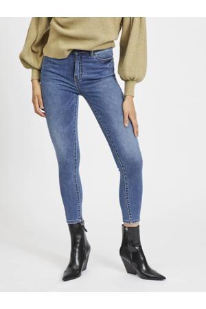 high waist skinny jeans OBJWIN medium blue denim