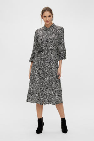 blousejurk OBJLORENA met all over print grijs