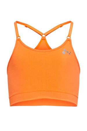 cropped sporttop Lea oranje