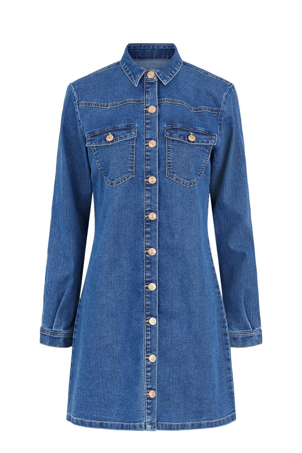 PIECES jurk blauw, Blauw