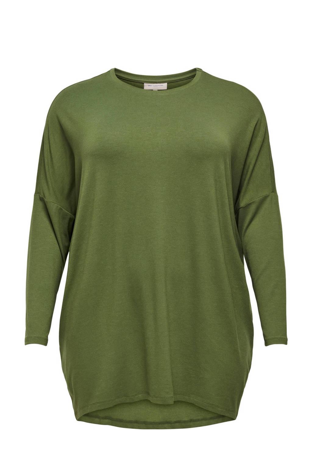 ONLY CARMAKOMA top groen, Groen