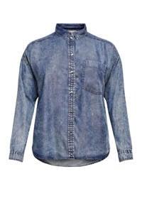 ONLY CARMAKOMA blouse CARTHEODORA blauw, Blauw