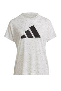 adidas Performance Plus Size 2.0 Sportwear sport T-shirt wit, Wit