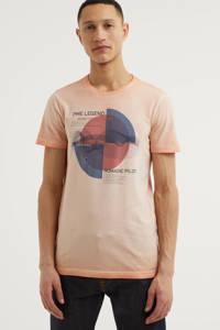 PME Legend T-shirt met printopdruk zalm, Zalm
