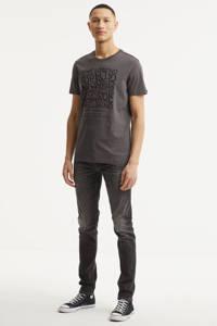 PME Legend T-shirt met printopdruk donkergrijs, Donkergrijs