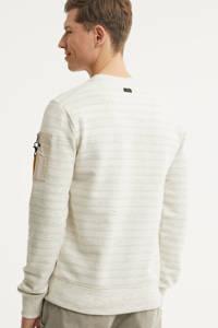 PME Legend gestreepte sweater ecru, Ecru