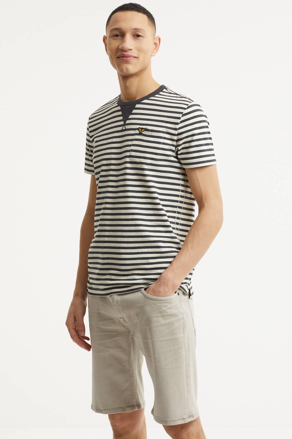 PME Legend regular fit jeans short Nightflight beige, Beige