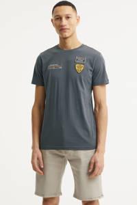 PME Legend T-shirt met logo donker grijsblauw