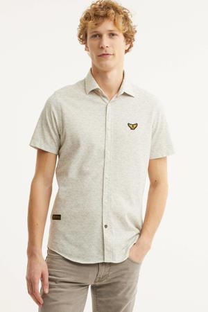 regular fit overhemd met all over print beige