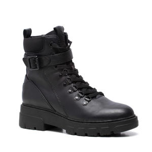 Love Our Planet  vegan veterboots met siergesp zwart