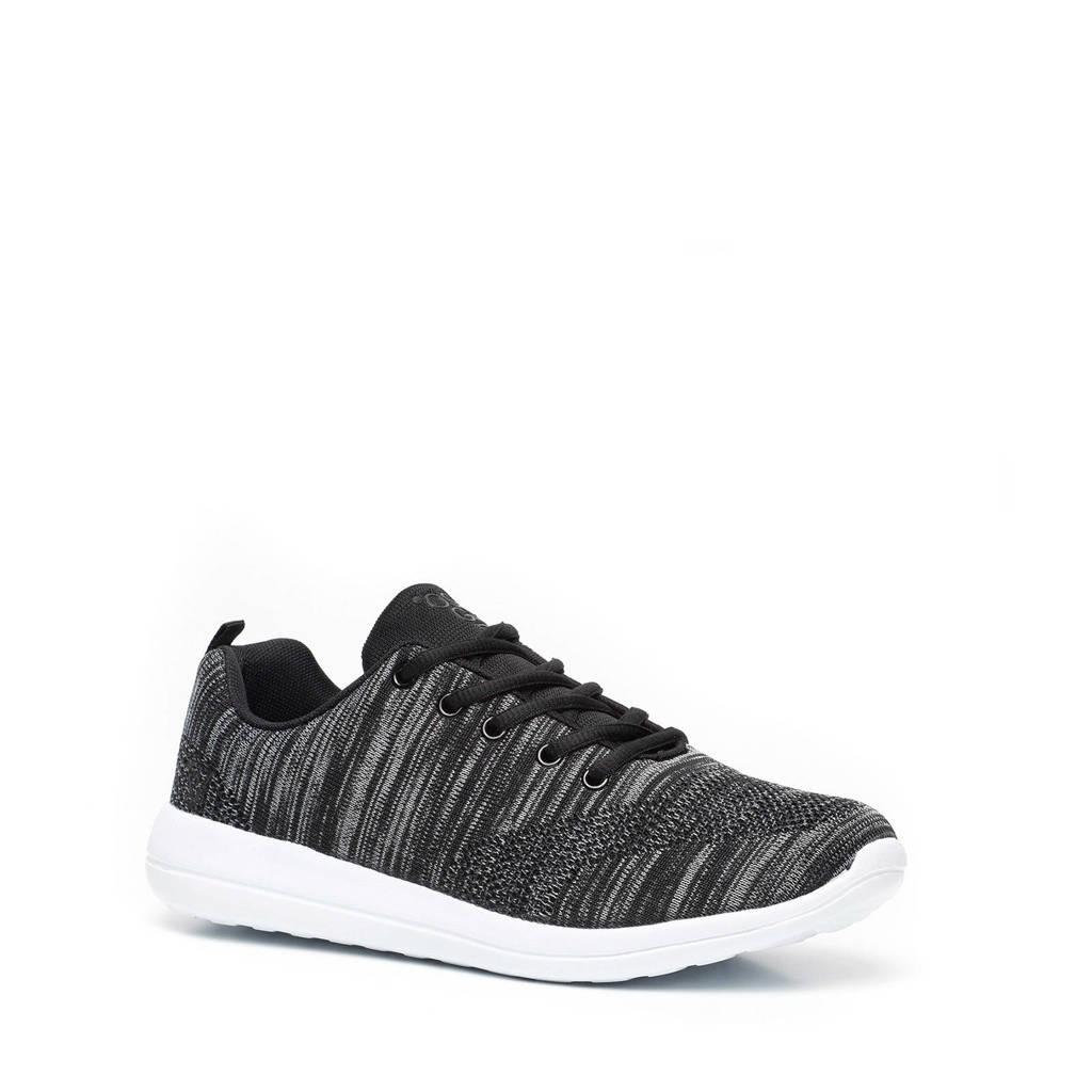 Scapino Osaga   hardlloopschoenen grijs, Zwart/grijs