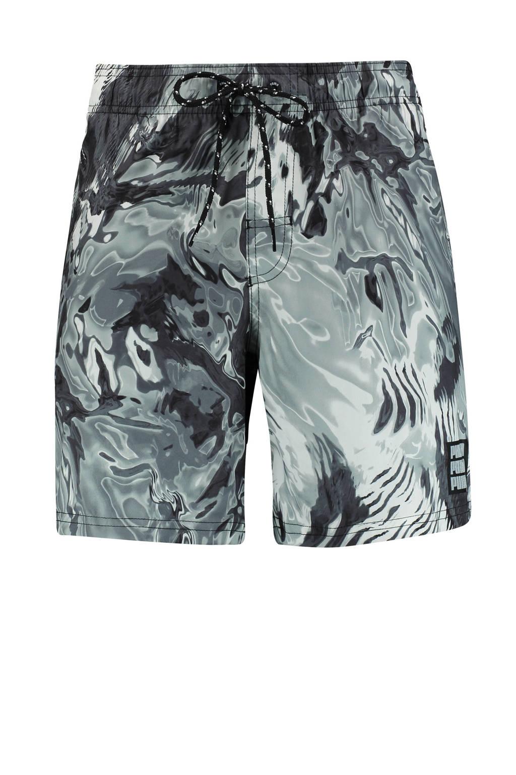 Puma zwemshort met all over print zwart/wit, Zwart/wit