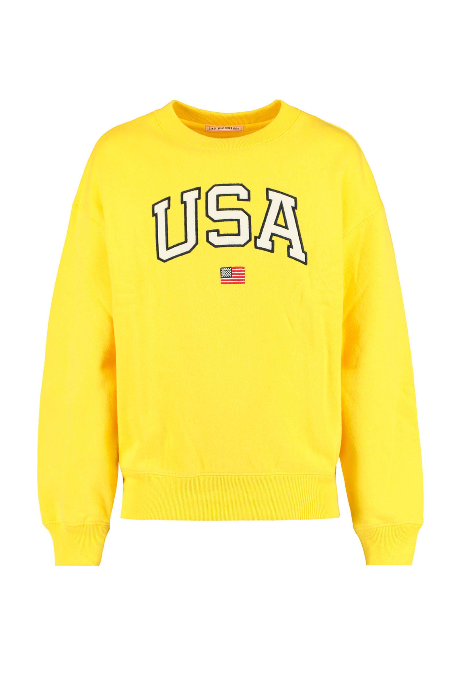 America Today sweater met tekst zwartwit | wehkamp