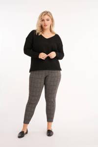 MS Mode gemêleerde trui zwart, Zwart