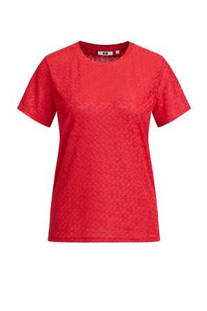 T-shirt met all over print sugar coral