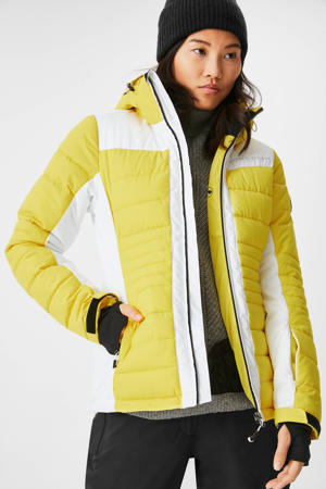 Ski-jack geel/wit