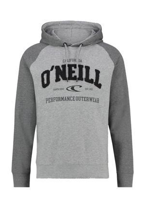hoodie met printopdruk grijs