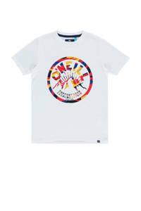 O'Neill regular fit T-shirt met printopdruk katoen, Katoen