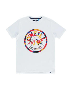 regular fit T-shirt met printopdruk katoen